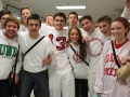Seniors show their leadership sporting their white clothing.