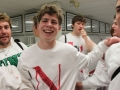 The white out showed the abundant support Jablonski has been receiving from fellow Red Knights.