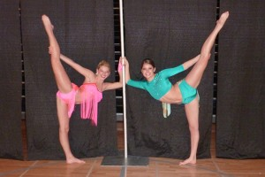 Two Knightettes compete for Miss Dance Team Minnesota