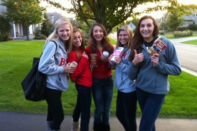 Freshmen collect record amounts in annual food drive