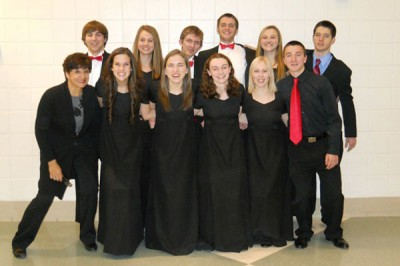 Select choir members participate in All-Conference concert