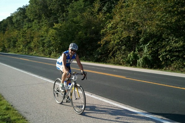 Bob McEnaney rides to support Jablonski
