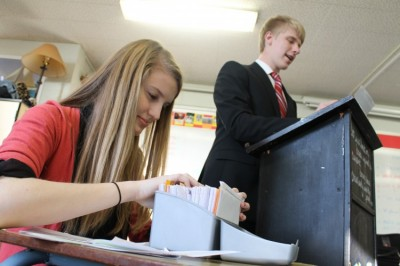 Students in debate enjoy the competitive and hard-working activity