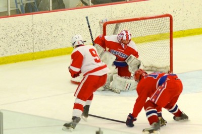 Boys&#8217; hockey dominates section quarterfinal against Armstrong