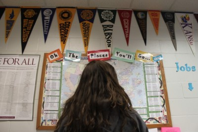 Seniors come face to face with the college decision