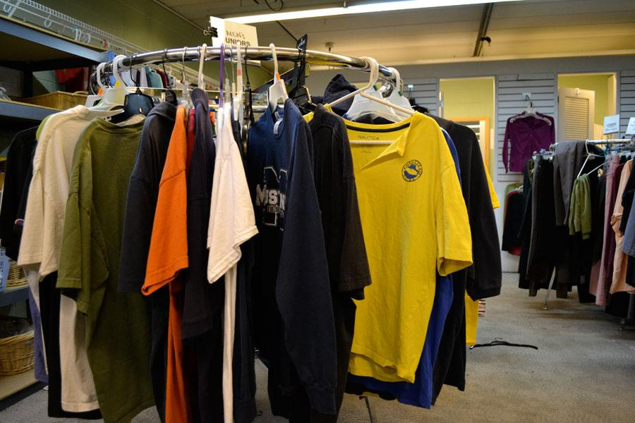 YouthLink accepts donated clothing for youth who need new clothes. The clothing shelf and the food shelf at YouthLink will soon be renovated to create a shopping-like experience.