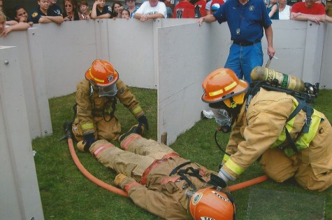 This girl is on fire: Junior engages in firefighter training