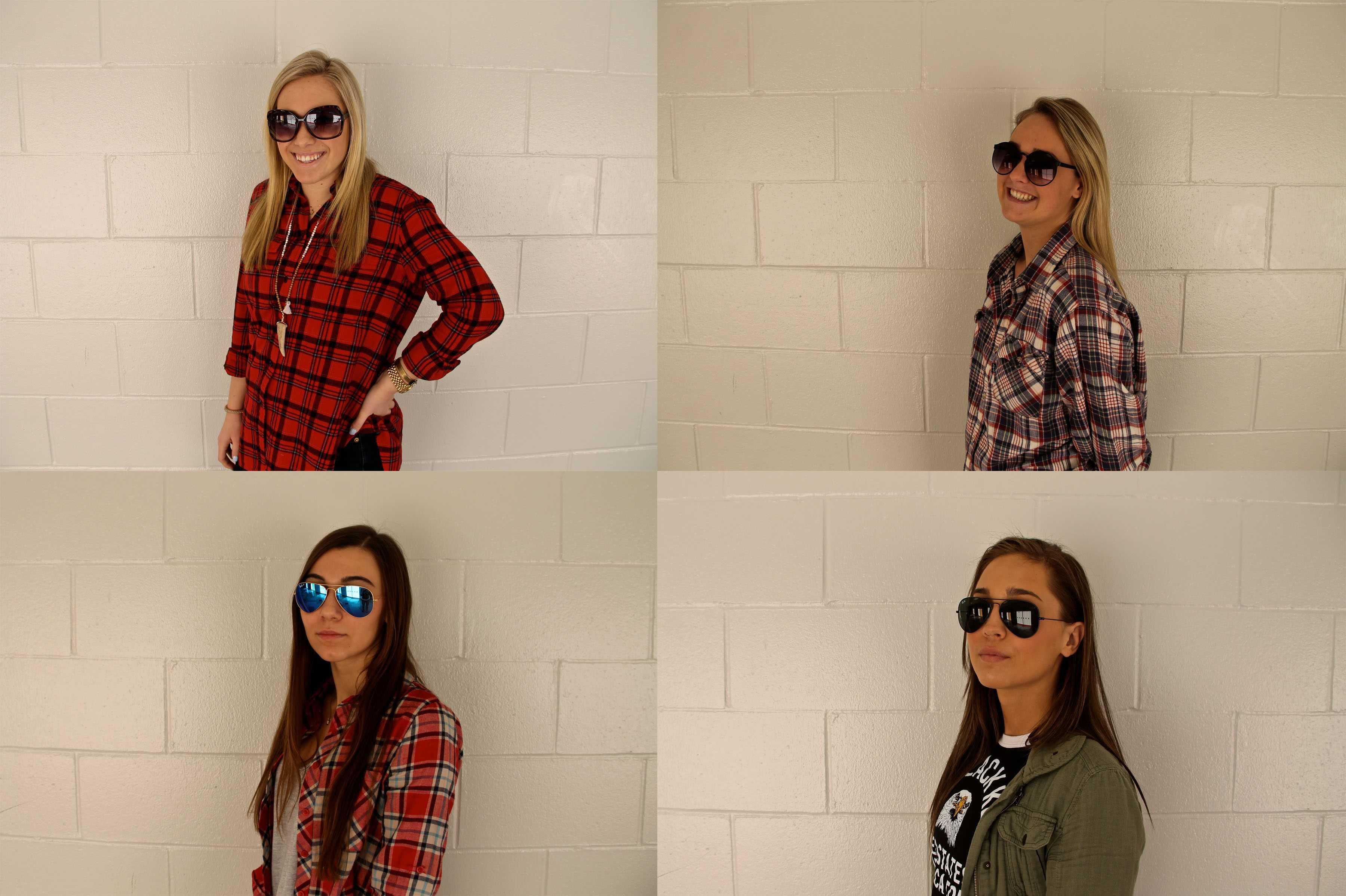 Senior girls show off their sunglasses for spring break.