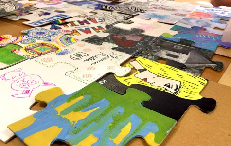 Art Honor Society creates a puzzle and other new art-centered activities