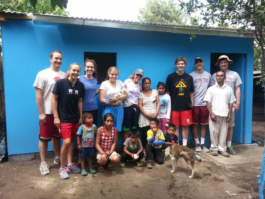 A group from the God's Child Project mission trip demonstrate the work that they did in Guatemala.
