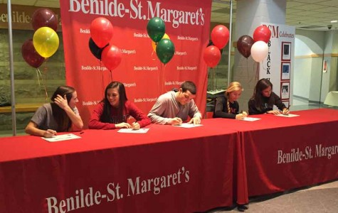 Five seniors sign to compete at DI programs