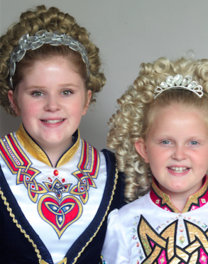 BSM sisters Libby (left) and Gebby Simpson (right) have been competing in Irish Dancing for several years.