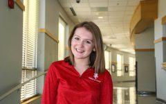 Junior Erin Lerch volunteers at the Crisis Nursery