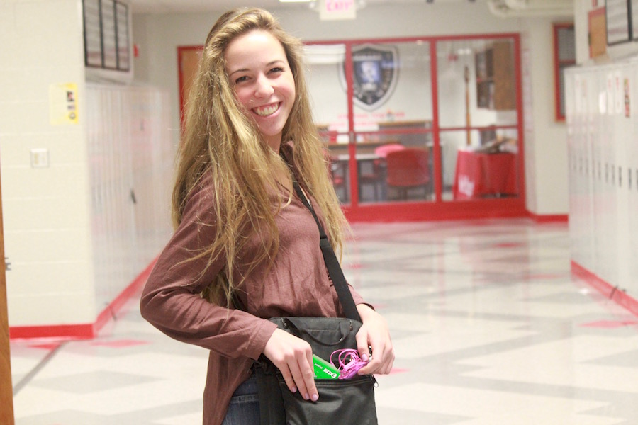 Senior Annie Paulison, uses all five items and has mostly survived her years at BSM.