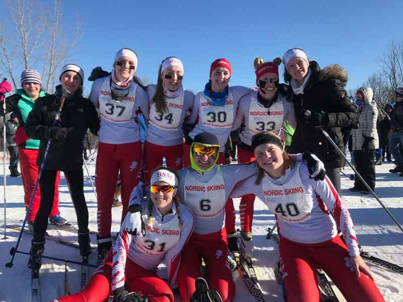 The+girls%27+Nordic+ski+team+got+5th+place+at+the+Section+5+Meet+last+week%2C+while+the+boys%27+team+finished+in+7th%3B+both+teams+have+one+skier+going+to+State.