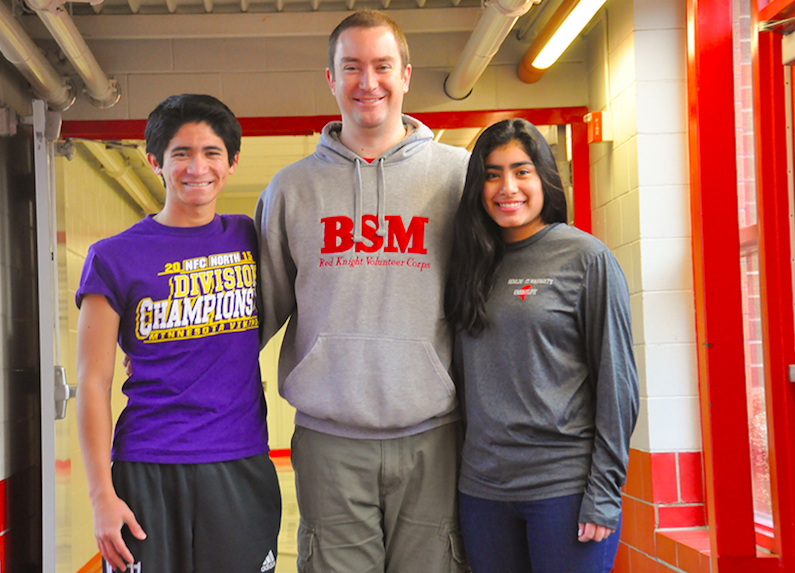 Freshman+Jimena+and+senior+Carlos%27+father%2C+Mr.+McMerty-Brummer+teaches+at+BSM.