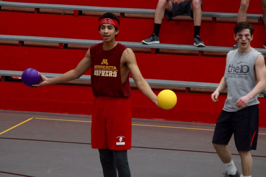 A+new+addition+to+March+Madness+Week+was+the+dodgeball+tournament%2C+in+which+students+formed+teams+and+competed+against+each+other.+The+proceeds+from+the+registration+fee+went+to+Pennies+for+Patients%2C+an+organization+that+funds+research+on+blood+cancer.
