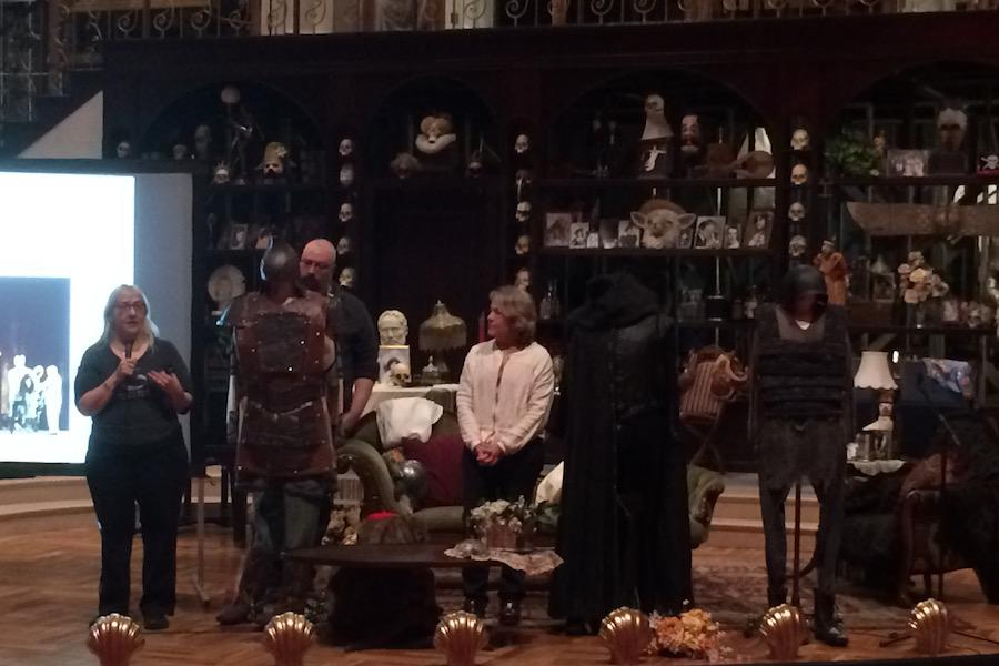 As a part of the trip, the classes attended an event at the Guthrie where costume designers explained the process of making a costume. The designers displayed costumes from Guthrie productions of