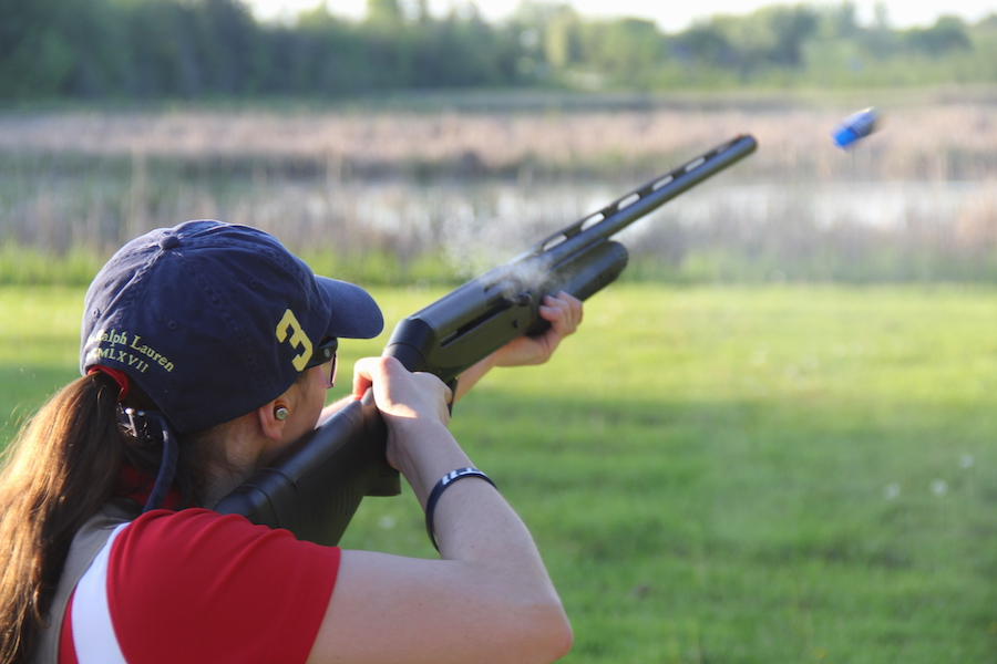 Although+trap+shooting+is+a+predominantly+male+sport%2C+more+and+more+female+athletes+are+starting+to+compete.+BSM+has+two+female+shooters%E2%80%93%E2%80%93senior+Morgan+Frank+and+junior+Sarah+Pucel%E2%80%93%E2%80%93who+are+trying+to+recruit+more+girls+to+join+the+team.+
