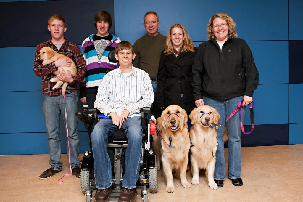 Senior trains dogs for the disabled