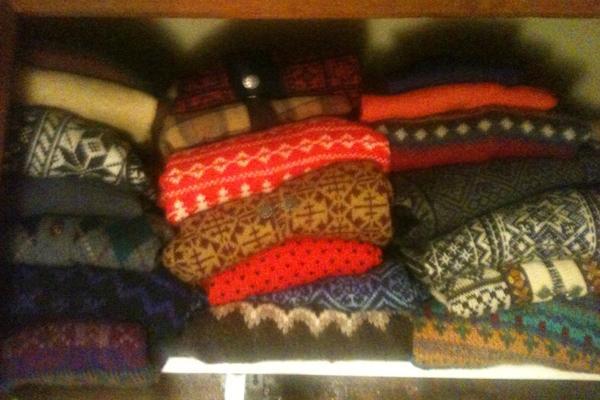 Christmas sweaters all around