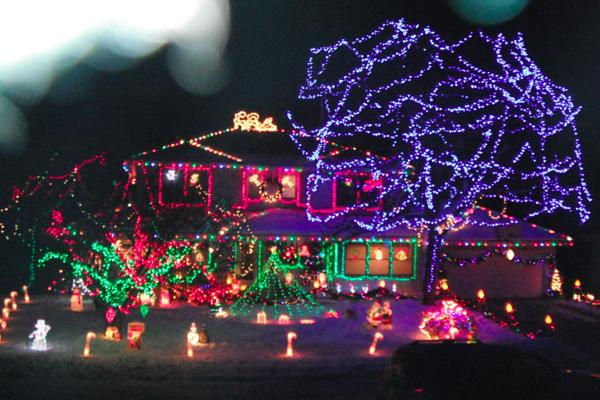 Bright lights create Christmas cheer