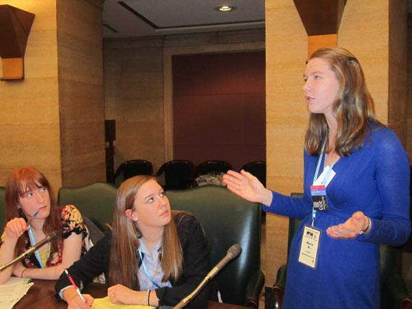 Youth in Government members lobby for government changes