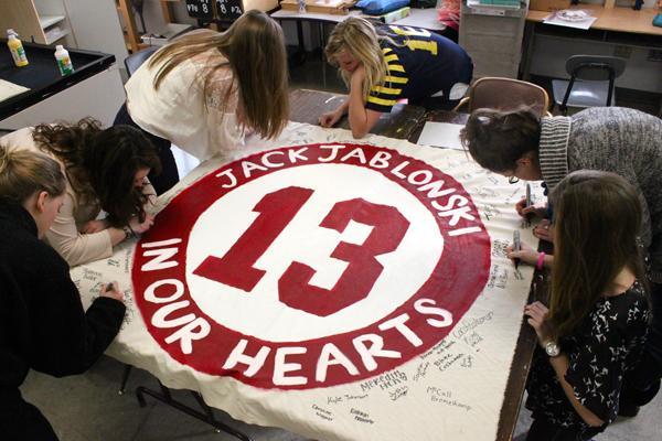 Sophomore Jack Jablonski in everyone's prayers