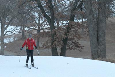 Nordic skiing survives with no snow