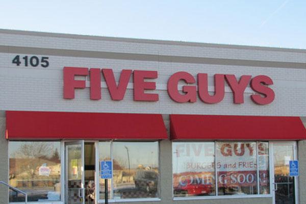 Five Guys earns five stars