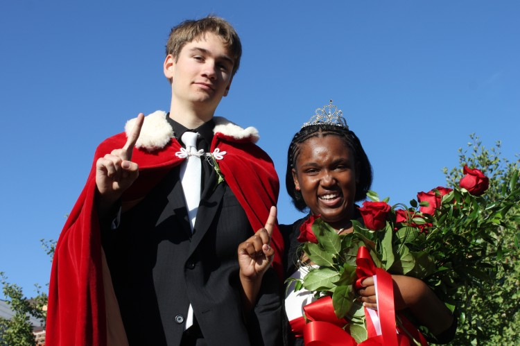 Seniors Daniel Letscher and Precious Walker were crowned Homecoming king and queen at this year's coronation, which took place during homeroom.