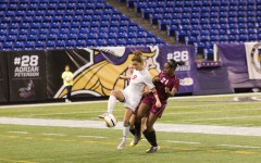 Senior Dana Buckhorn, a captain and forward for the girls' soccer team, scored the Red Knights' game winning goal in overtime against South St. Paul in the State Semifinal game at the Metrodome on Monday, October 29.