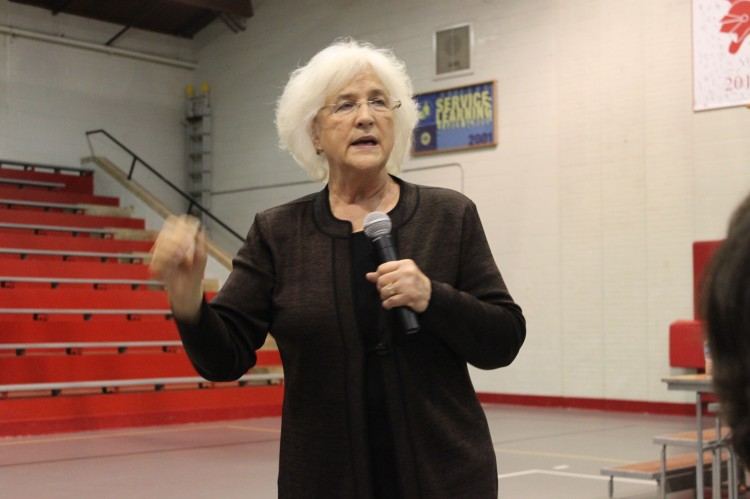 Students listened to speaker Barbara Coloroso on the dangers and presence of bullying