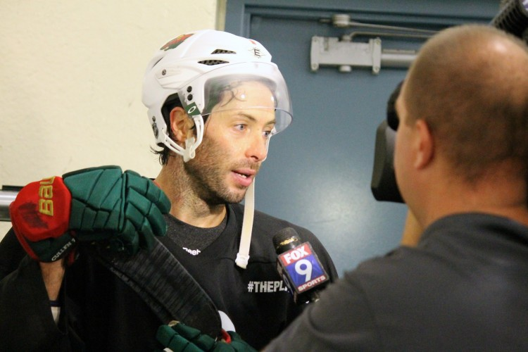 Assistant+Captain+for+the+Minnesota+Wild%2C+Matt+Cullen%2C+is+just+one+of+the+NHL+players+that+has+been+practicing+in+the+SLP+Rec+Center+at+the+%22Octagon%22+camp.+