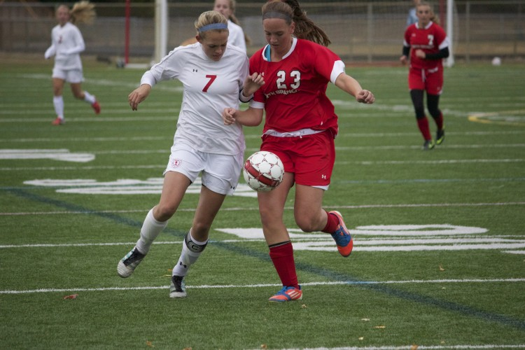 Girls' soccer defeated North Branch 7-0 on Thursday, October 3, which was also Senior Night for the team. The team is undefeated so far this season.