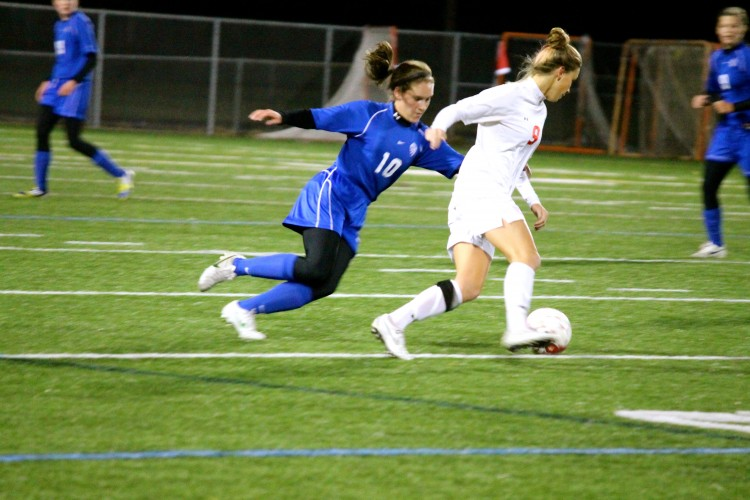 Senior Dana Buckhorn gets ready for the upcoming girls soccer State tournament while recounting her wide range of accomplishments this season.