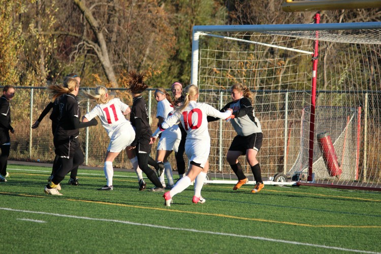 In their first section game, the girls' soccer team had yet another shutout, this time against Delano.