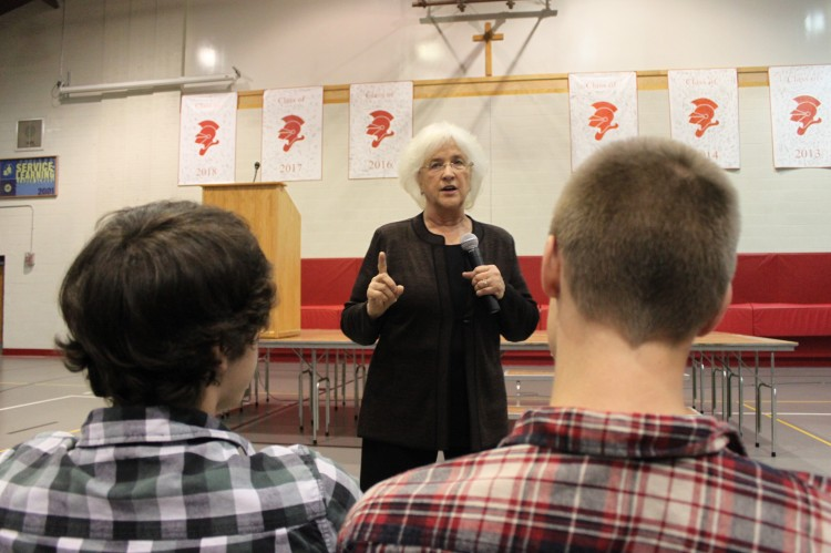 Students from all grades heard from speaker Barabara Coloroso on the topic of bullying, part of BSM's effort to keep students aware of this problem during Bullying Awareness month.