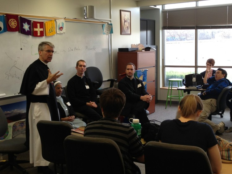People who have pursued religious vocations spoke to juniors and seniors in their religion classes on Tuesday, November 13.