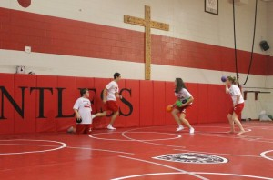 November 20 - Freshmen played dodgeball in their gym classes during the shortened periods today.