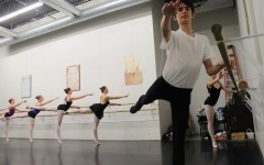Freshman Peter Linder practices ballet, an art form often dominated by females, at the Academy of Russian Ballet. Linder recently secured the role as the Nutcracker in the studio's performance of the classical Christmas ballet.