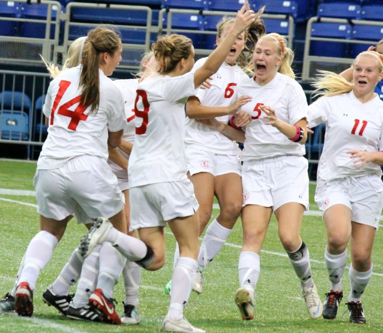 The girls' soccer team won the State title by beating the Blake Bears 3-2 in overtime. This was the first State championship win for the girls' soccer program.