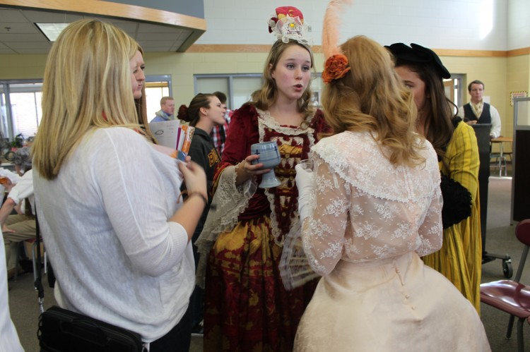 BSM students were invited to visit their friends in AP European History throughout the day as they participated in the annual Enlightenment Salon.