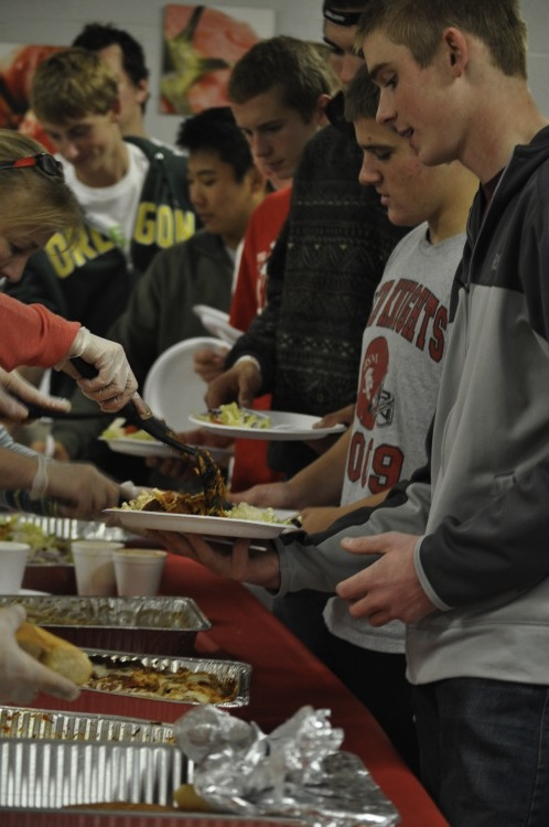 Many BSM sports teams participate in team meals the night before the game in order to prepare and power their bodies.