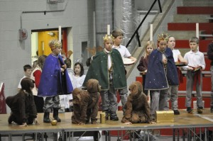 December 13th - Students from Good Shepard Elementary School performed holiday skits and gave choir performances for their fellow students today in the BSM Great Hall.