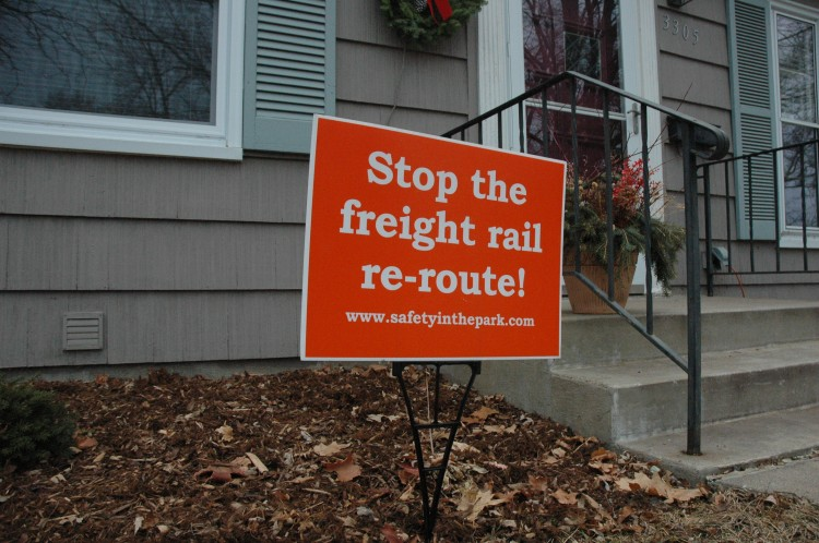 People from the St. Louis Park neighborhoods that surround BSM fight back against proposals to reroute the freight rail.