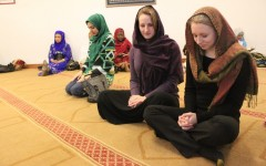 Seniors Catherine Cole and Madison Winston fulfilled the requirements for their religion final by attending a service at a local mosque.