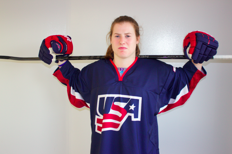 Junior+Kelly+Pannek+is+spreading+her+talent+beyond+the+BSM+girls%27+hockey+team%2C+competing+for+Team+USA+in+the+IIHF.