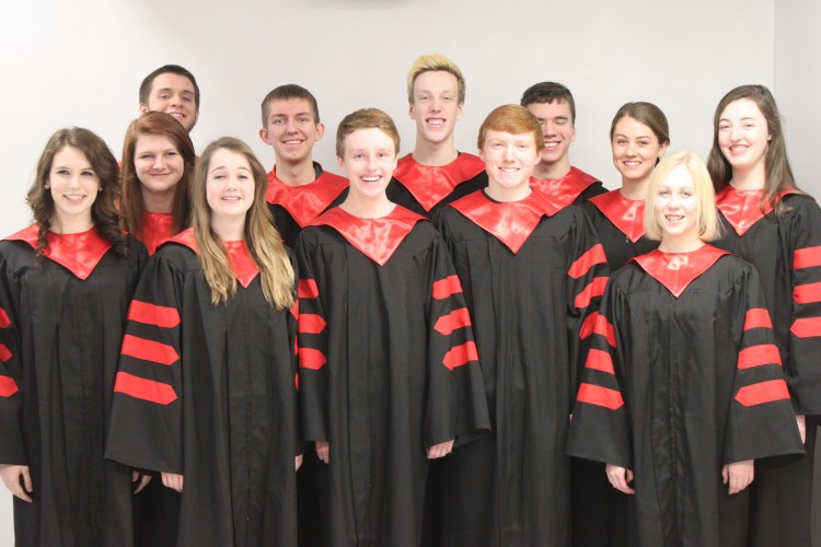 BSM All Concert Choir made up of two sophomores, six juniors, and four seniors attending.