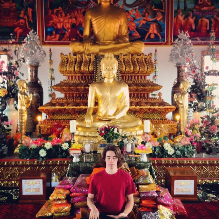 Senior Andrew Phaff, who attended a Buddhist service, documented his experience at the temple using Instagram.